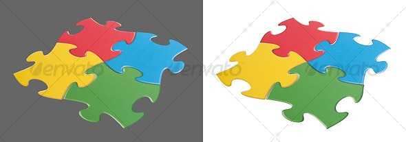 Puzzle Pieces - Activities & Leisure Isolated Objects