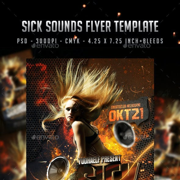 Sick Sounds Flyer