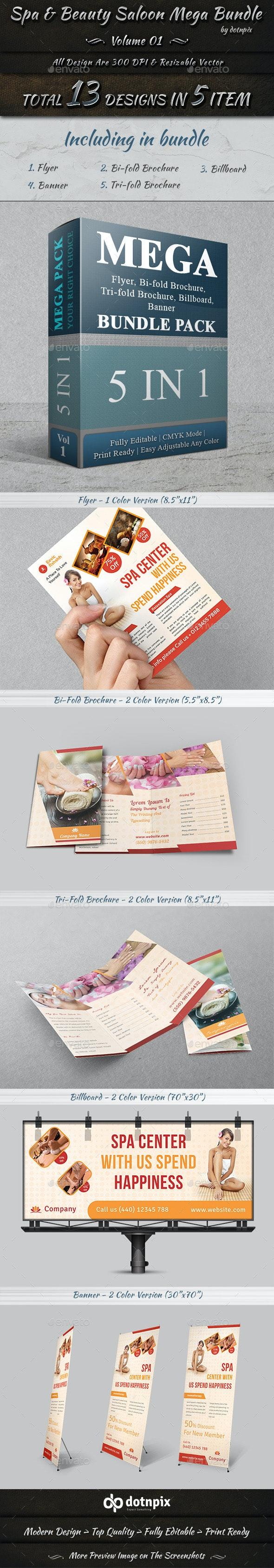 Spa & Beauty Saloon Mega Bundle | Volume 1 - Stationery Print Templates
