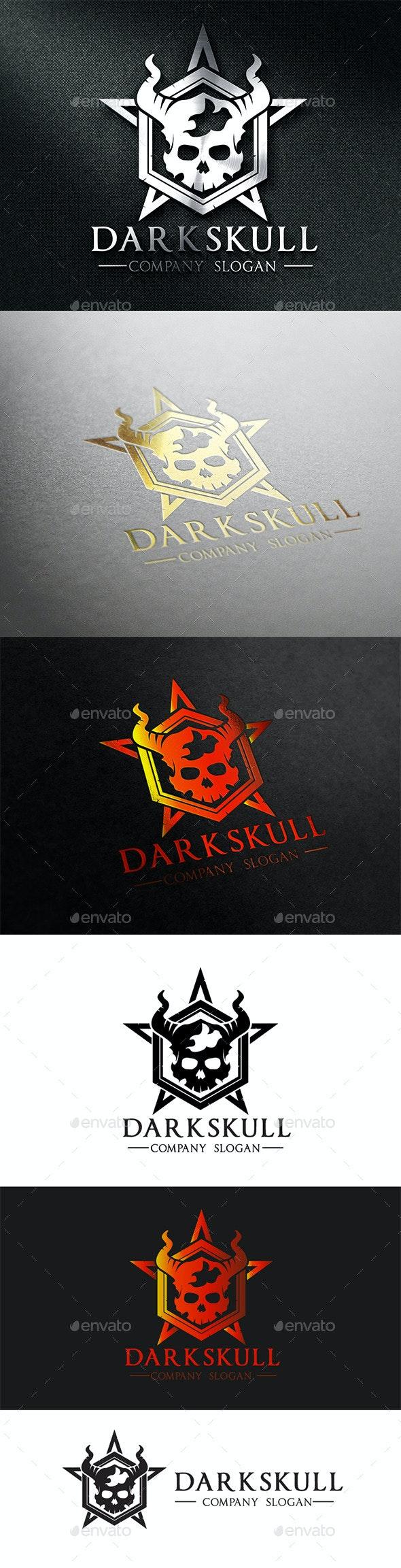 Dark Skull - Crests Logo Templates