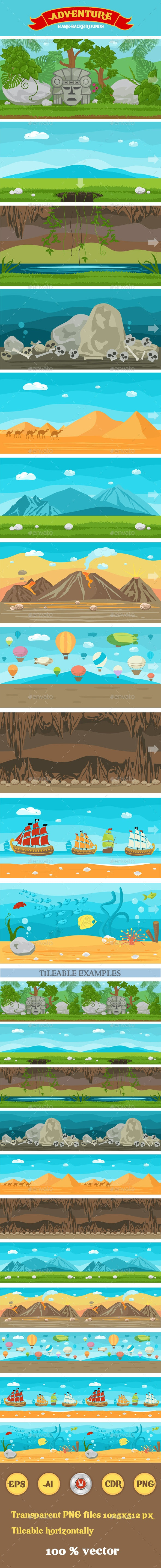 11 Adventure Themed Game Backgrounds - Backgrounds Game Assets