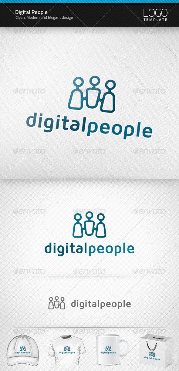 Digital People Logo - Symbols Logo Templates