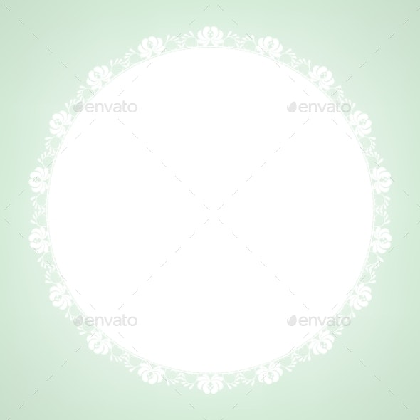 Lace Doily on Green Background - Backgrounds Decorative