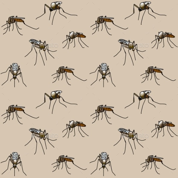 Biting Mosquitoes - Animals Characters