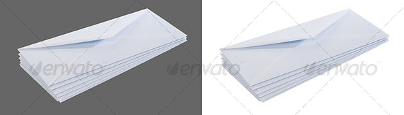 Stack of Envelopes - Home & Office Isolated Objects