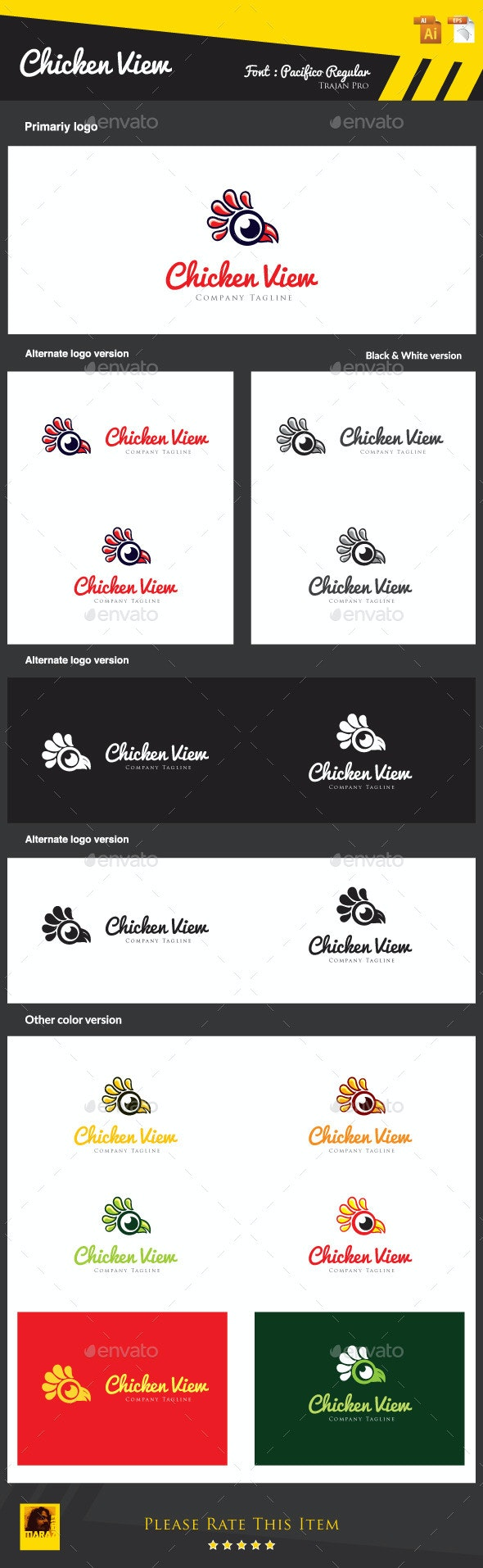Chicken View - Animals Logo Templates