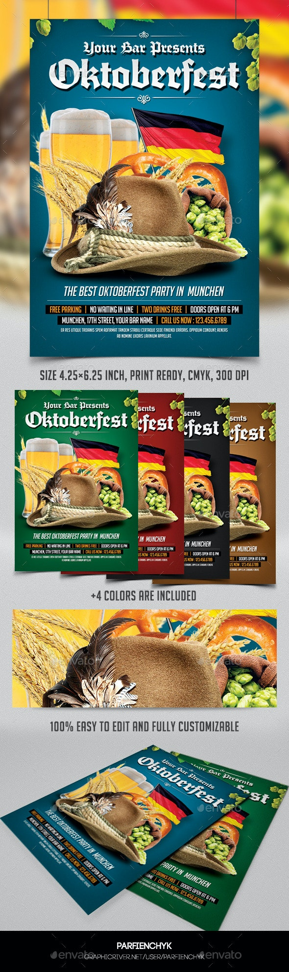 Oktoberfest Party Flyer Template - Events Flyers