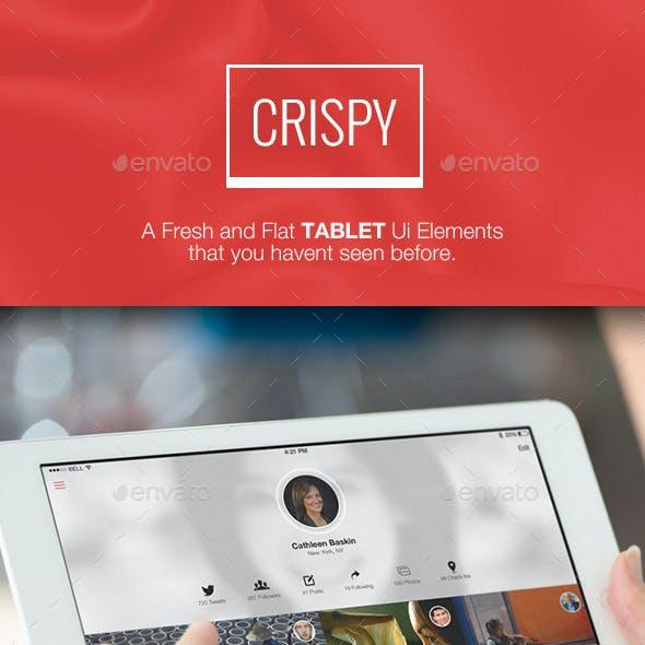 Crispy for Tablet - Flat & Fresh Ui