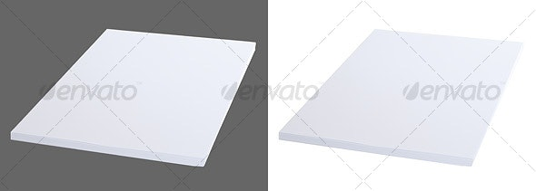 Stack of Letter Sized Paper - Home & Office Isolated Objects