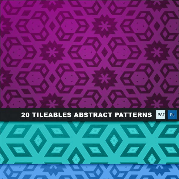 20 Tileable Abstract background Textures & Pattern