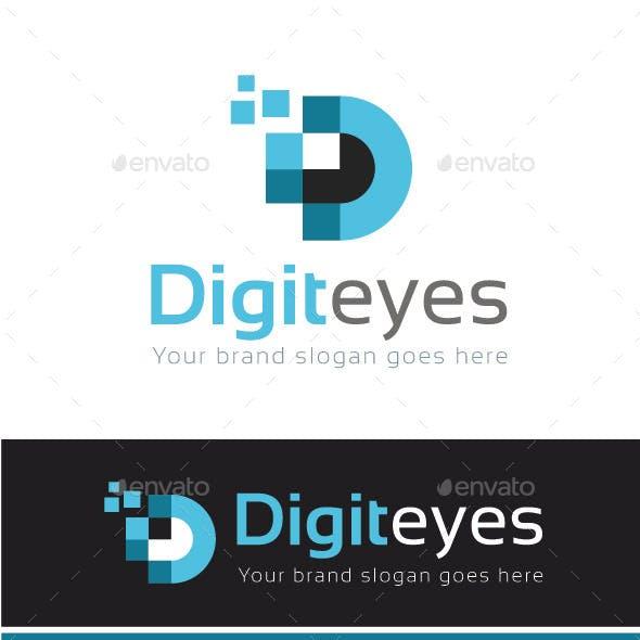 Digital Eyes Logo Template