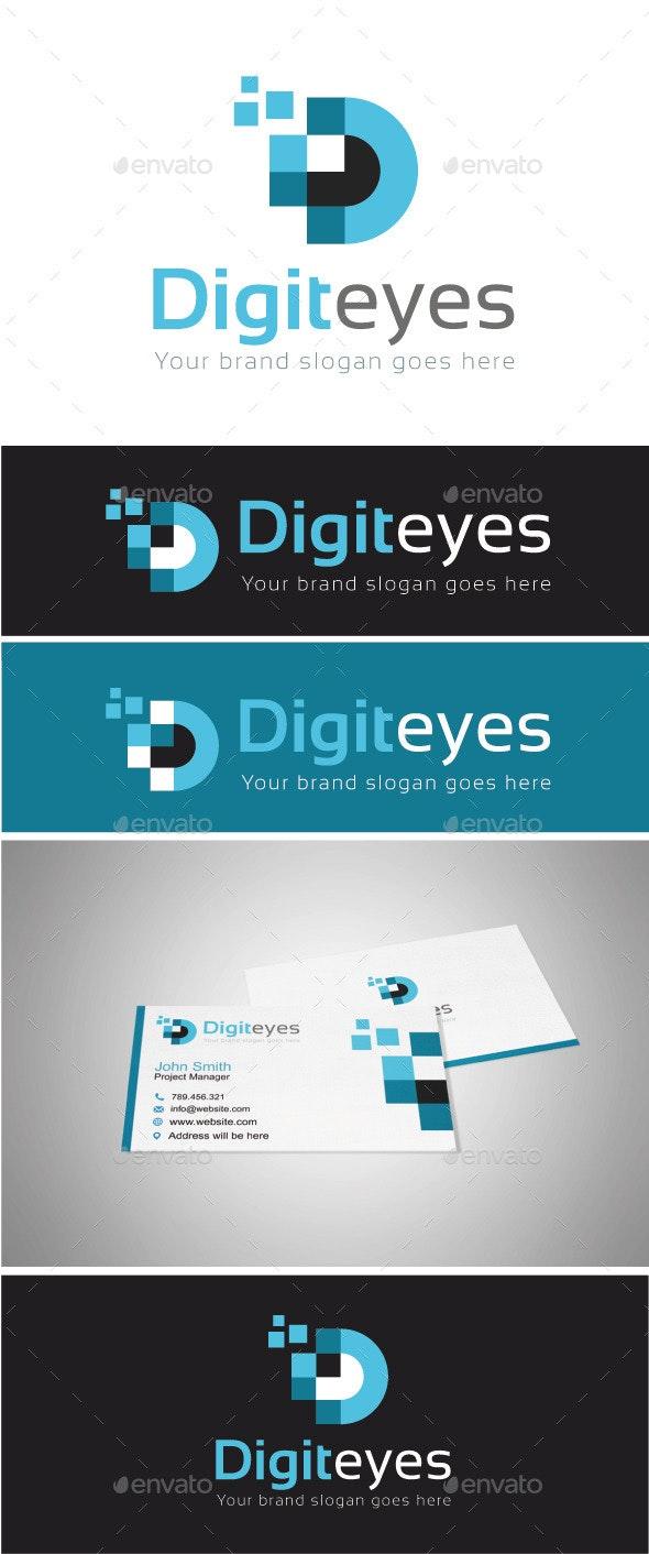 Digital Eyes Logo Template - Abstract Logo Templates