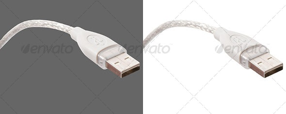 USB Cord - Technology Isolated Objects