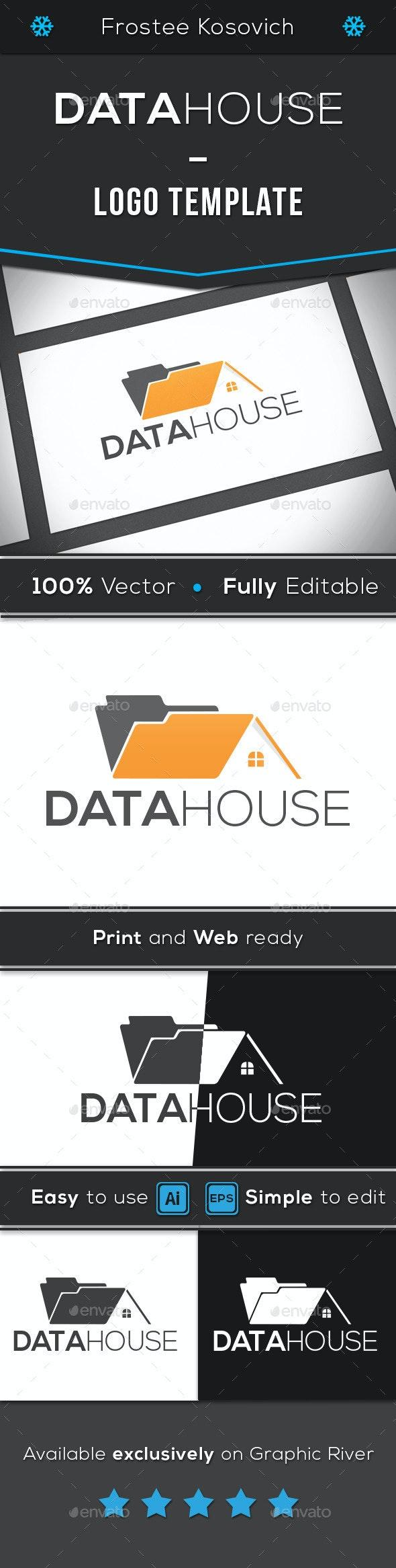 Data House - Objects Logo Templates