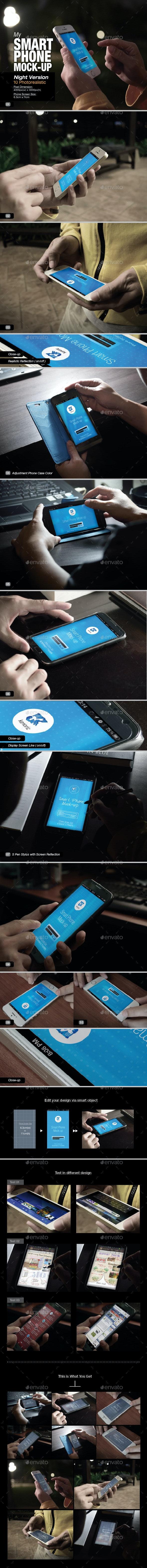 Smart Phone Mock-Up 01 - Mobile Displays