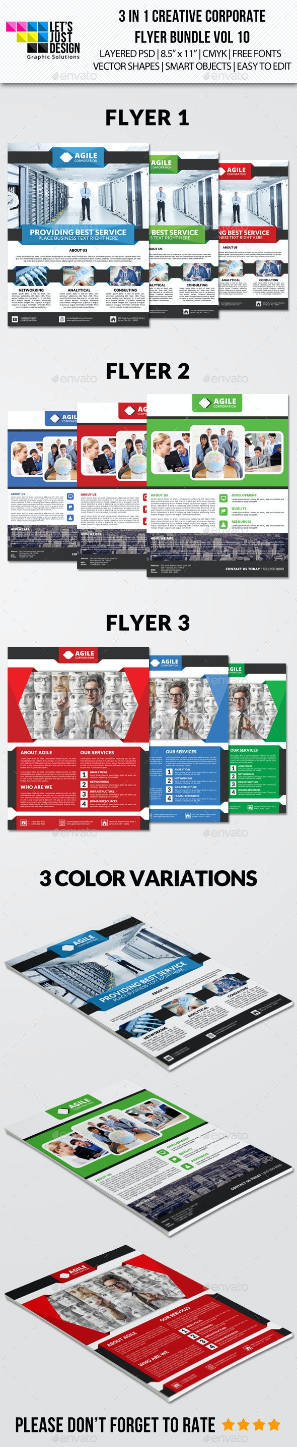 Creative Corporate Flyer Pack Vol 10 - Corporate Flyers