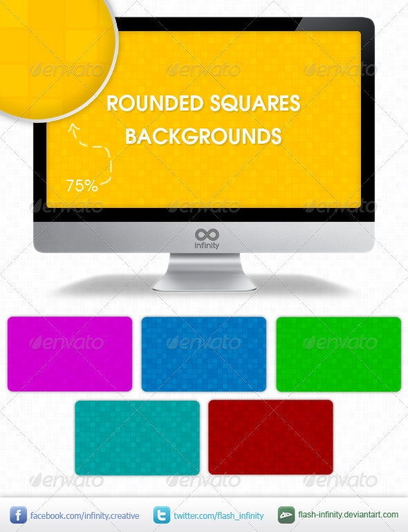 Rounded Squares Tiles Background - Miscellaneous Backgrounds