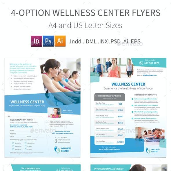Wellness Center Flyers – 4 Options