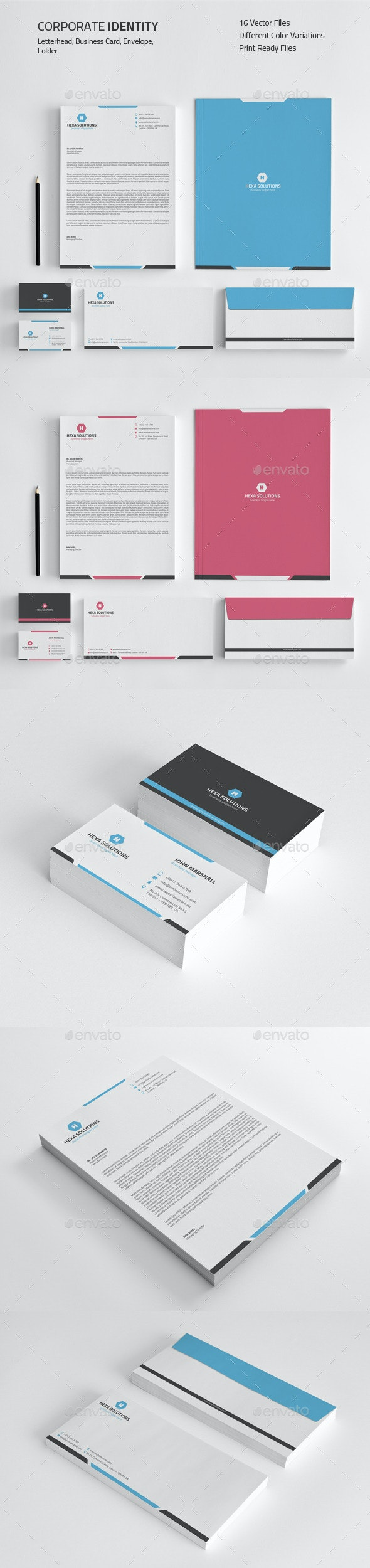 Corporate Identity 01 - Stationery Print Templates