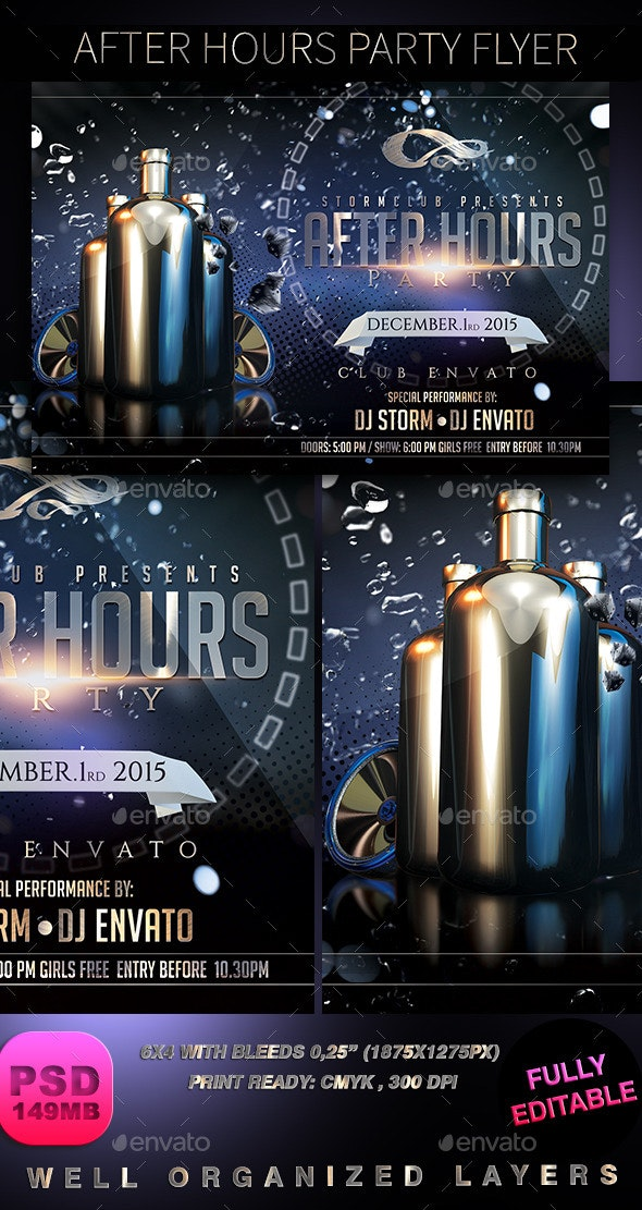 After Hours Party Flyer - Clubs & Parties Events