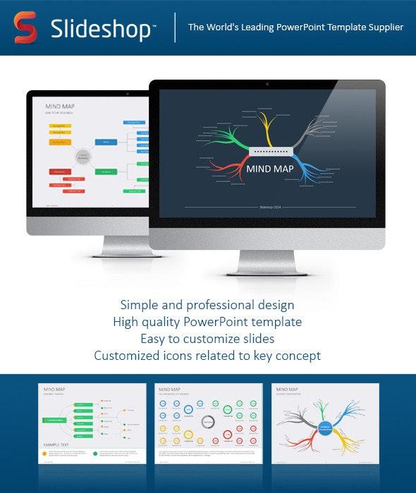Mind Map Flat - Creative PowerPoint Templates
