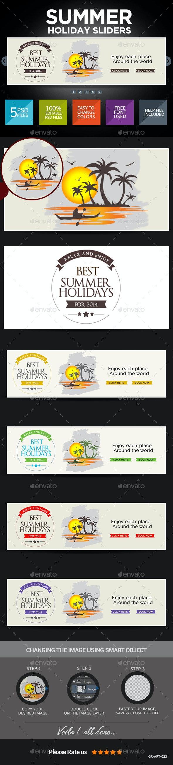 Summer Travel Sliders - Sliders & Features Web Elements