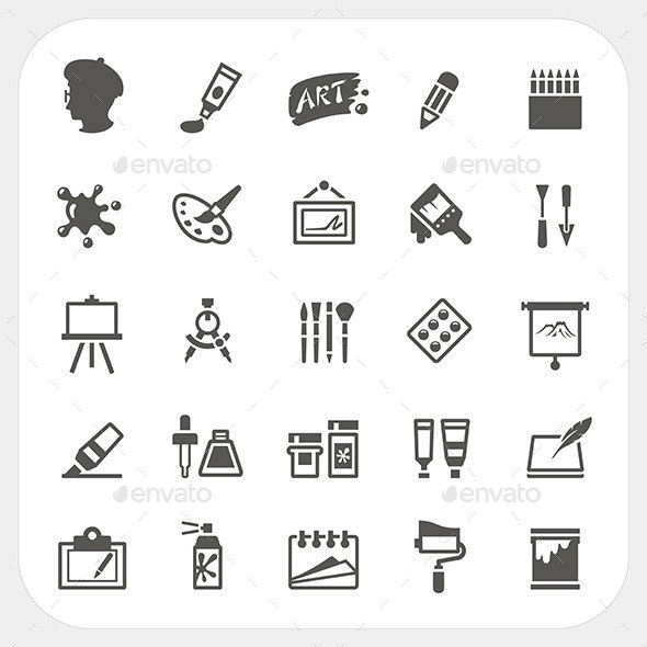 Art Icons Set - Conceptual Vectors