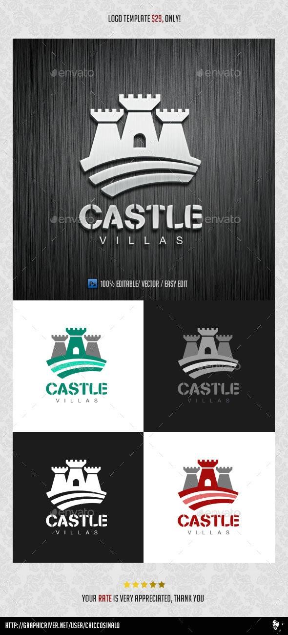 Castle Villas Logo Template - Abstract Logo Templates