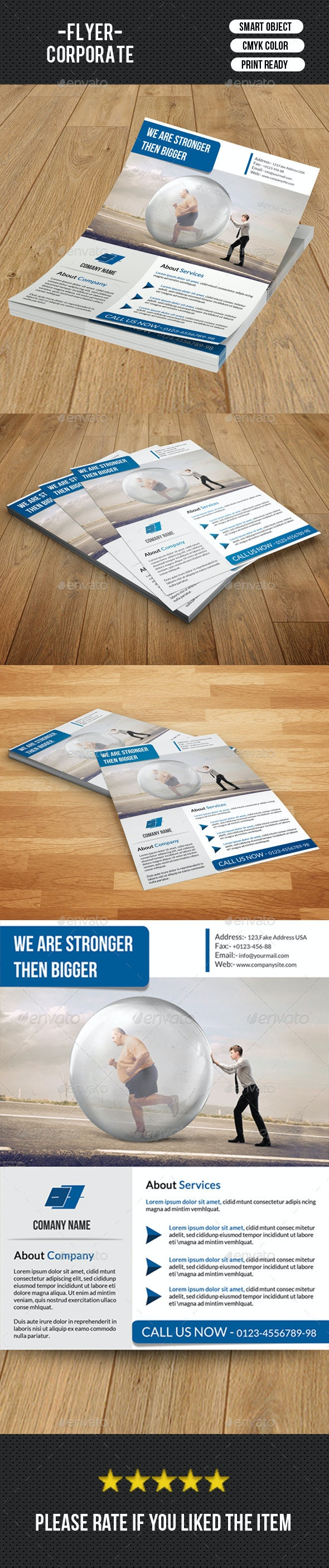 Corporate Flyer Template-V131 - Corporate Flyers