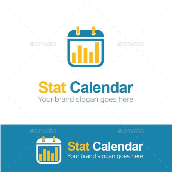 Stat Calendar Logo Template