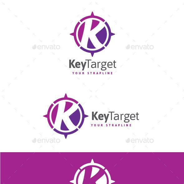 Key Target Letter K Logo