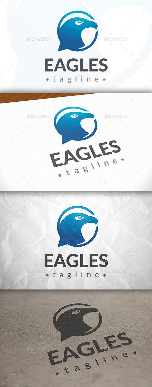 Eagle Chat Logo - Animals Logo Templates