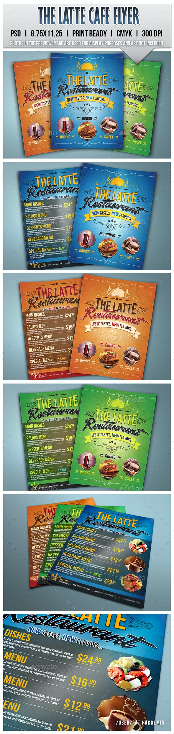 The Latte Cafe Flyer - Food Menus Print Templates