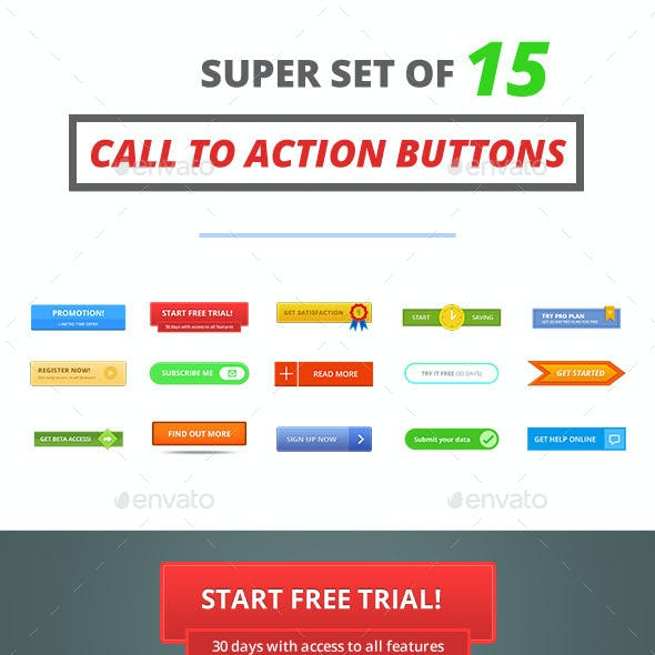 15 Customizable Call To Action Buttons
