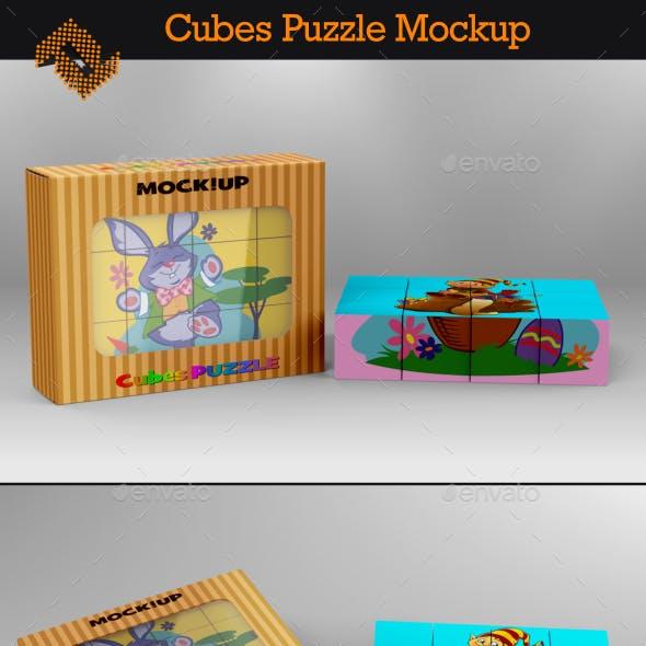 Cubes Puzzle Mockup