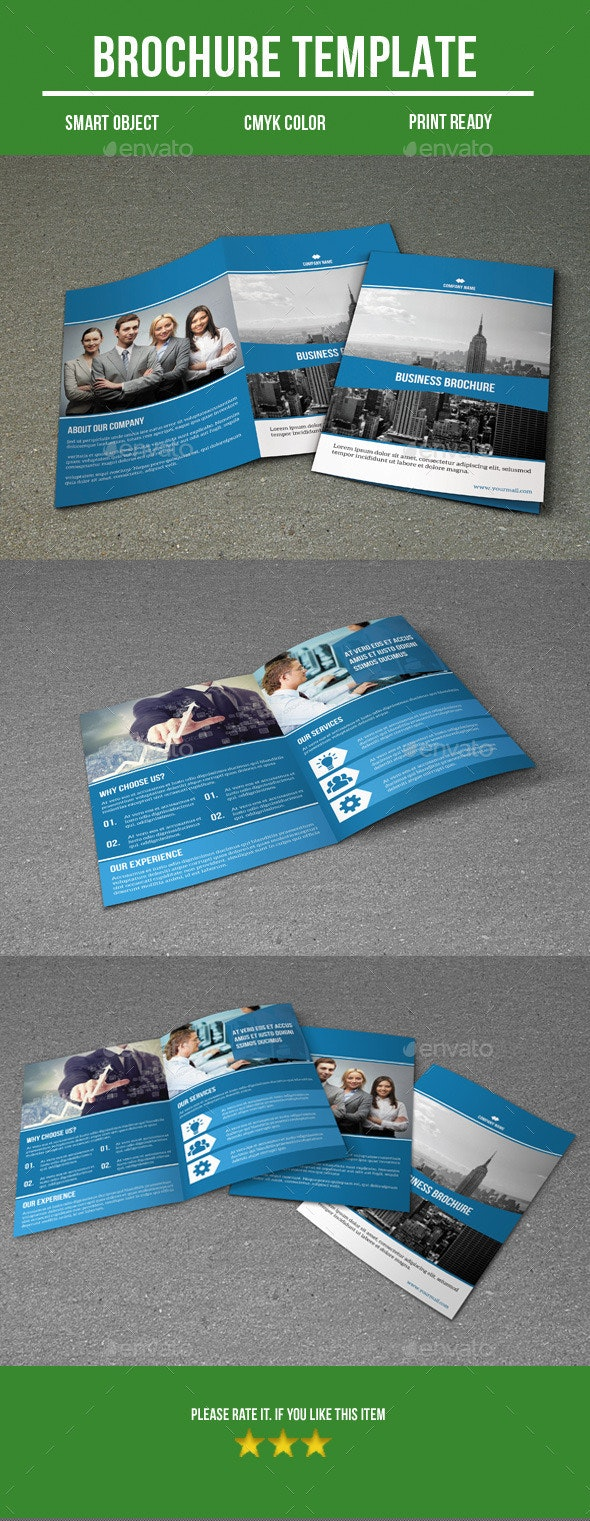 Business bi fold brochure - Corporate Brochures