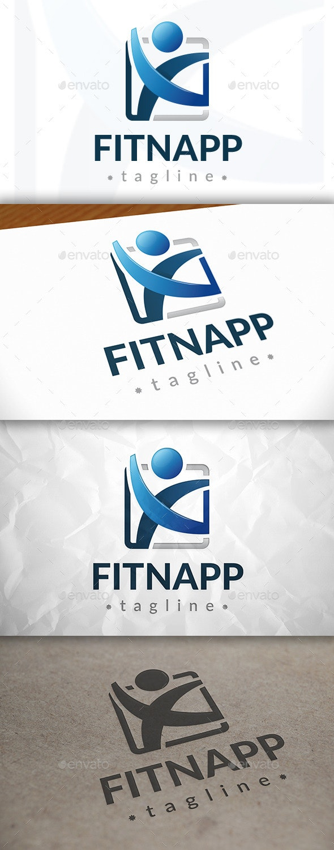 Fitness App Logo - Humans Logo Templates