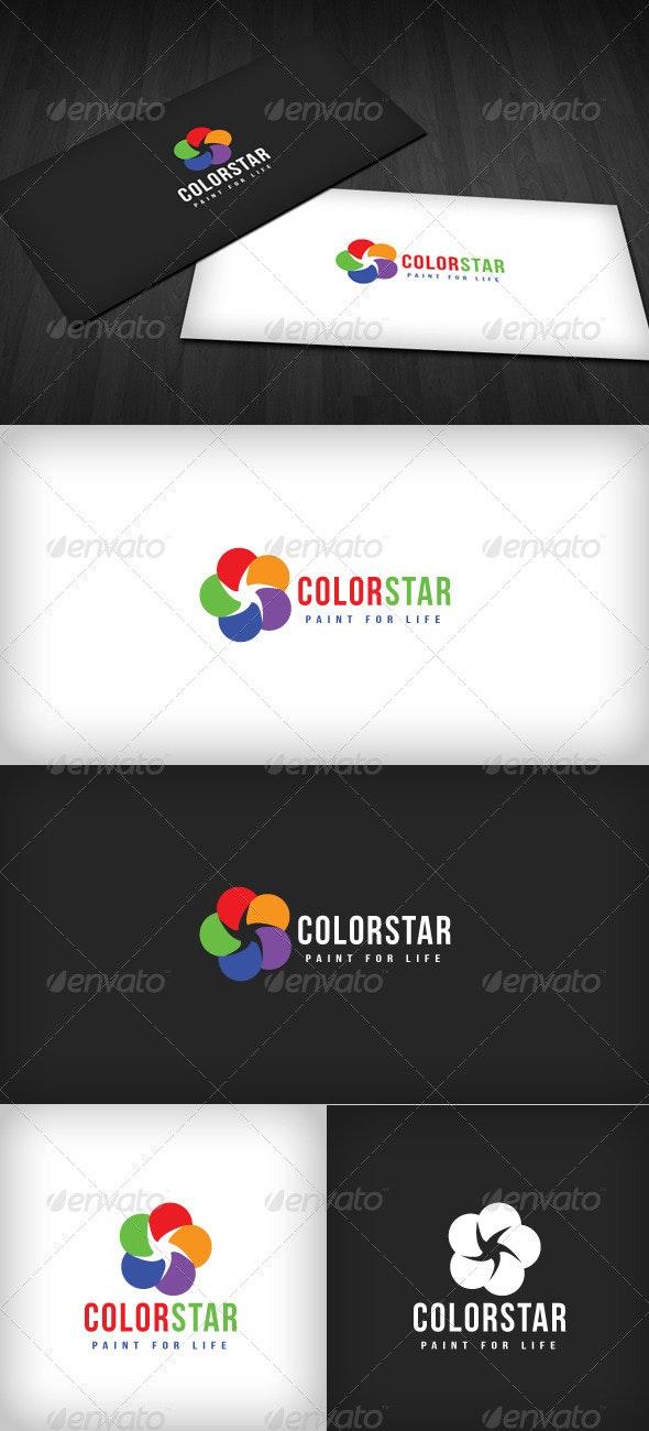 Color Star Logo - Vector Abstract