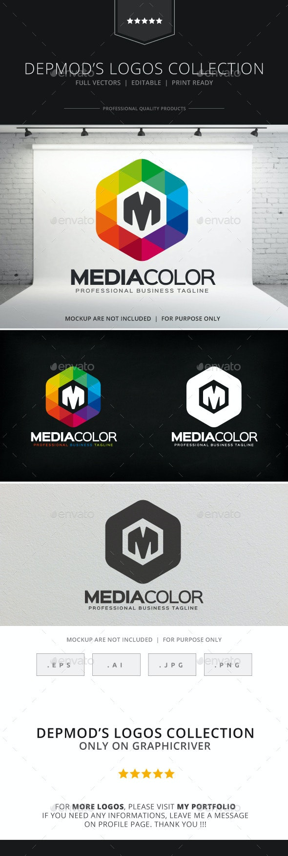 Media Color Logo - Letters Logo Templates