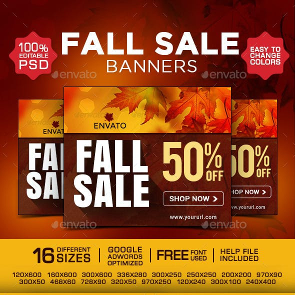 Fall Sale Banners