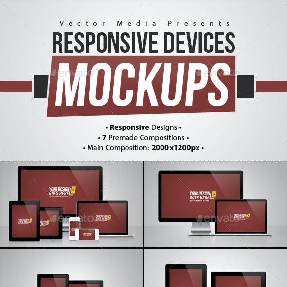 Responsive Devices - Mock-ups