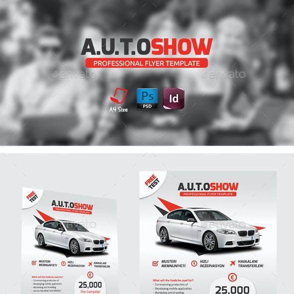 Auto Showroom Flyer Templates