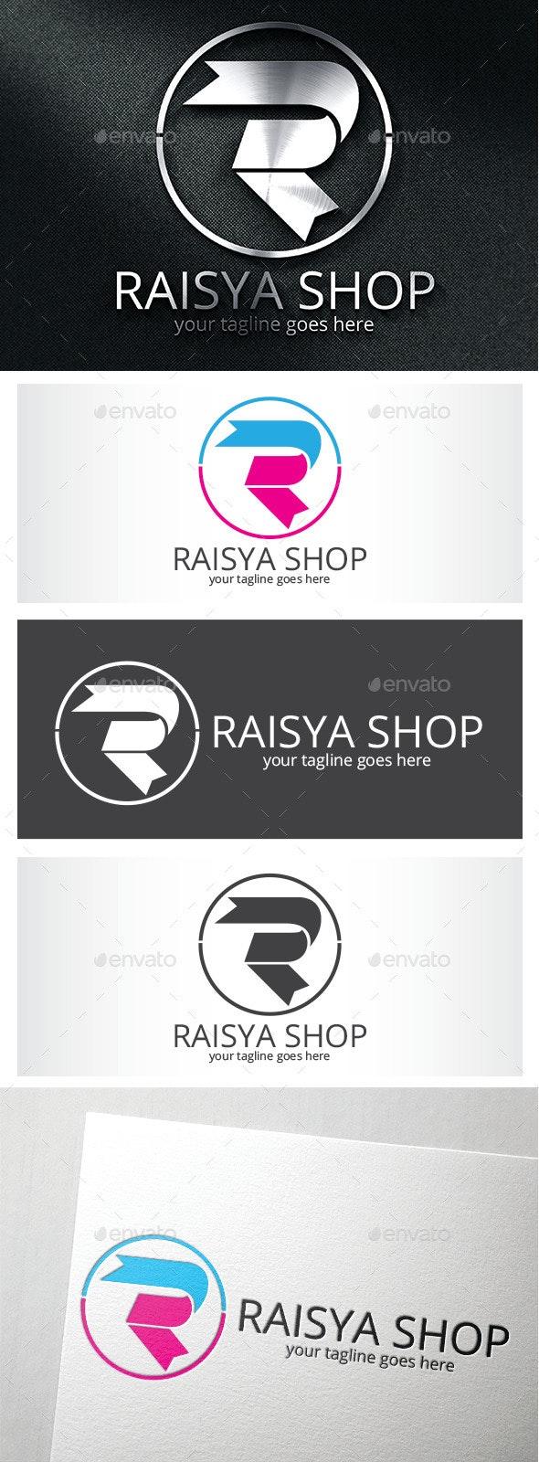 Raisya Shop Logo / Letter R Logo - Letters Logo Templates