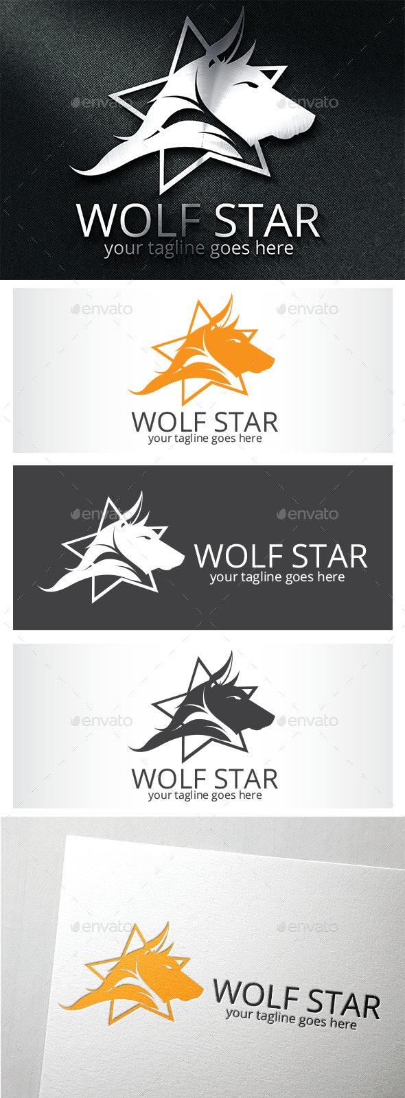 Wolf Star Logo / Wolf Logo - Logo Templates
