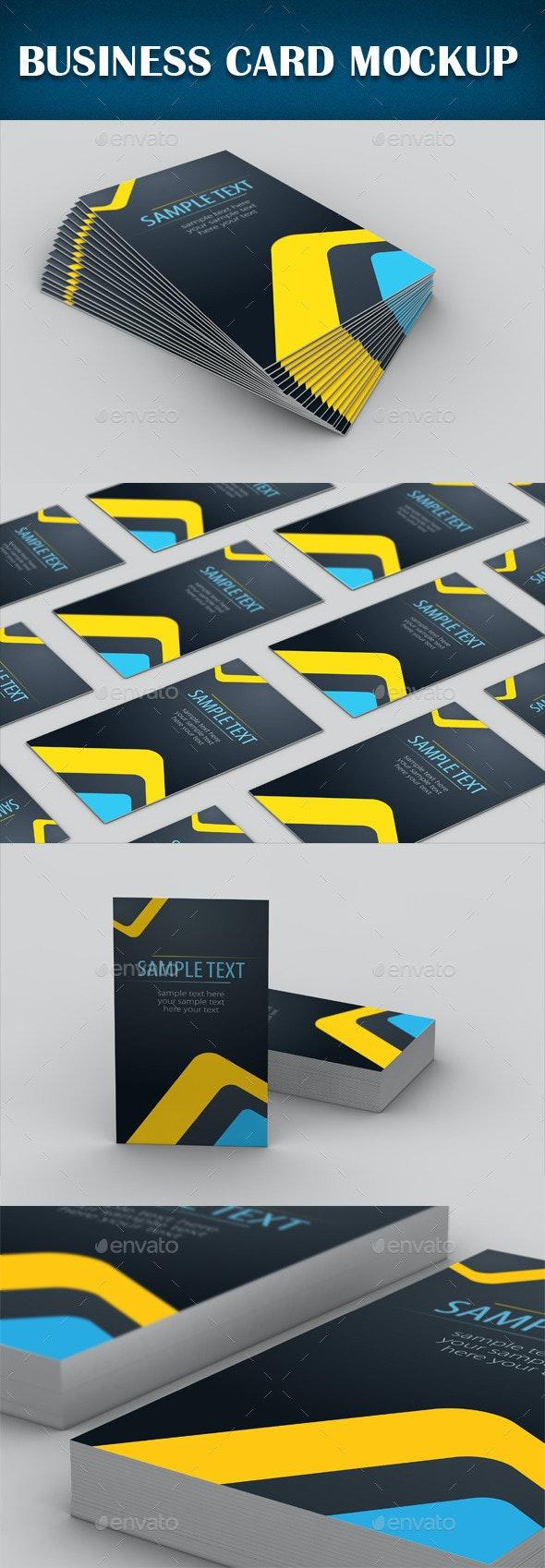Business Card Mockup - Product Mock-Ups Graphics