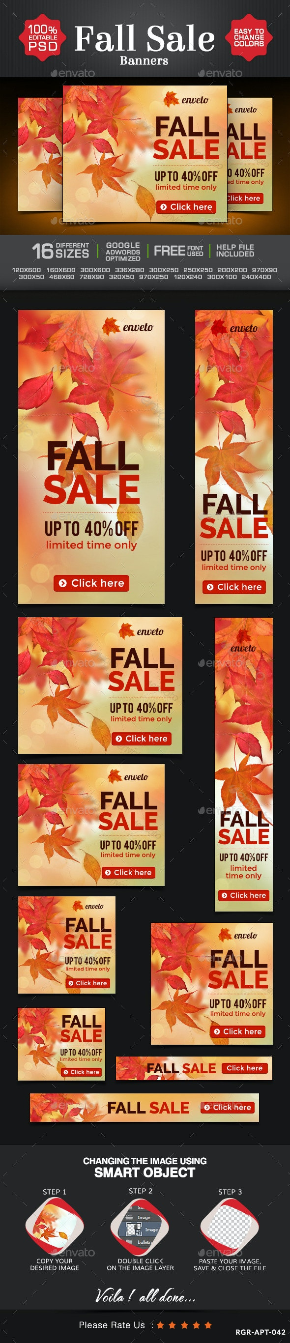 Fall Sale Marketing Banner Design - Banners & Ads Web Elements