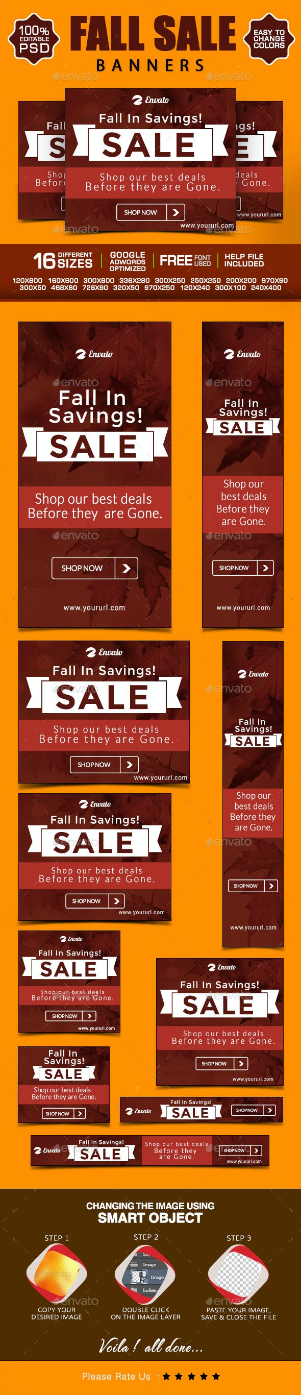 Fall Sale Web Banner Design - Banners & Ads Web Elements