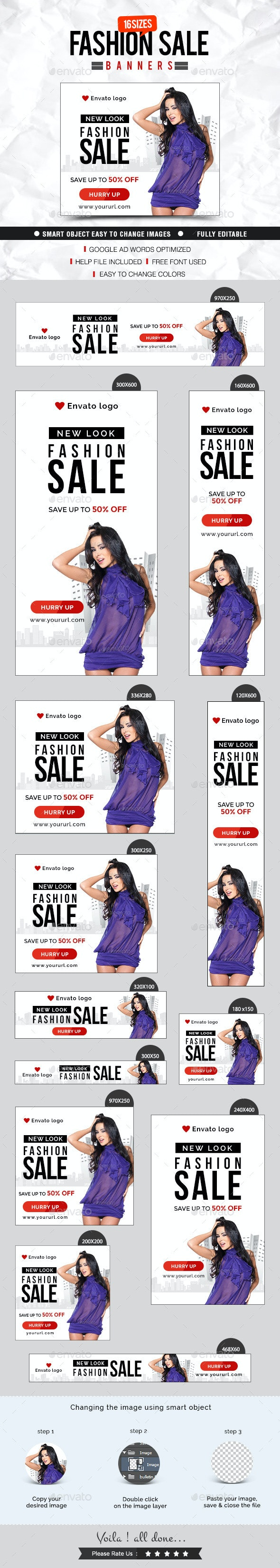 Fashion & Clothing Banner Design - Banners & Ads Web Elements