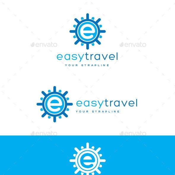 Easy Travel Letter E Logo