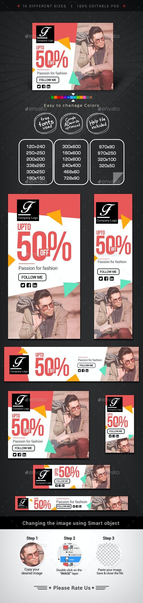 Fashion & Retail Web Banner Design - Banners & Ads Web Elements